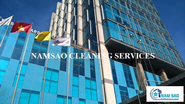 Công trình thi công dịch vụ lau kính toà nhà Sài Gòn GateWay, Quận 9, TP HCM