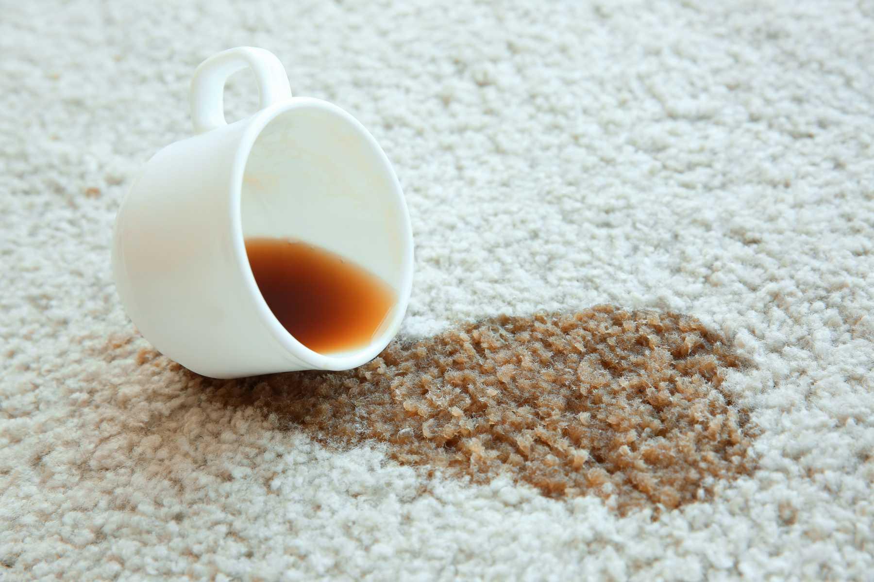 Loại bỏ vết bẩn cà phê khỏi thảm của bạn trong ba bước đơn giản