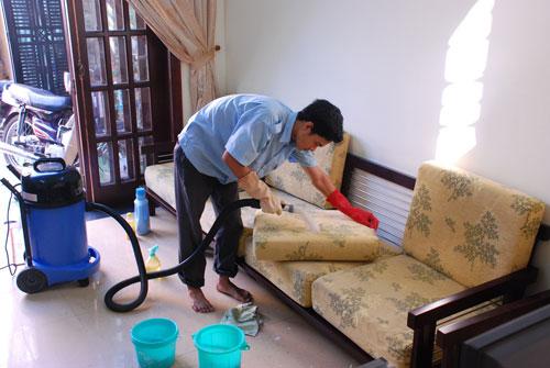 Quy trình giặt ghế sofa, ghế văn phòng